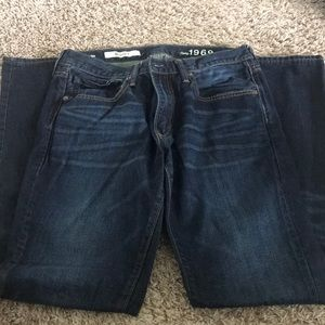 Men's dark rinse jeans from The Gap